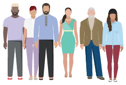 Graphic of a group of people.