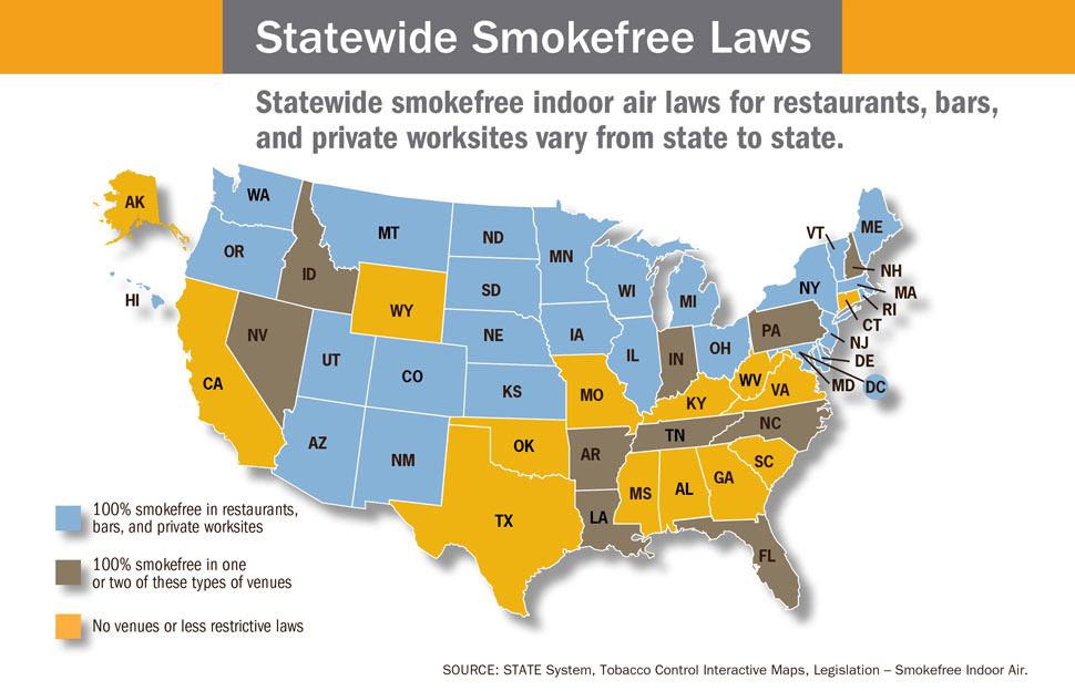 Secondhand Smoke InfographicsBError Processing SSI FileBBR - Smoking rates us map