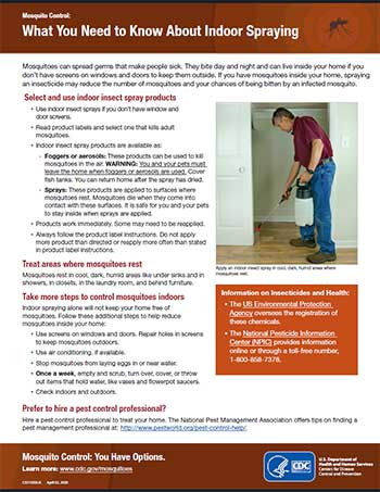 What you need to know about indoor spraying fact sheet thumbnail
