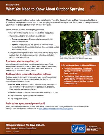 What you need to know about outdoor spraying fact sheet thumbnail
