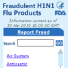 Fraudulent H1N1 Products Widget (FDA).