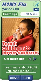 H1N1 (Swine Flu) Widget. Flash Player 9 is required.