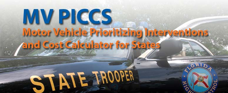 Motor vehicle prioritizing interventions & cost calculator for states