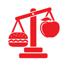 Scales with food icon