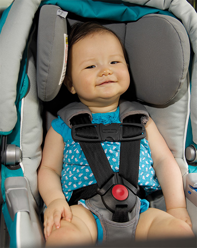 Infant in a carseat