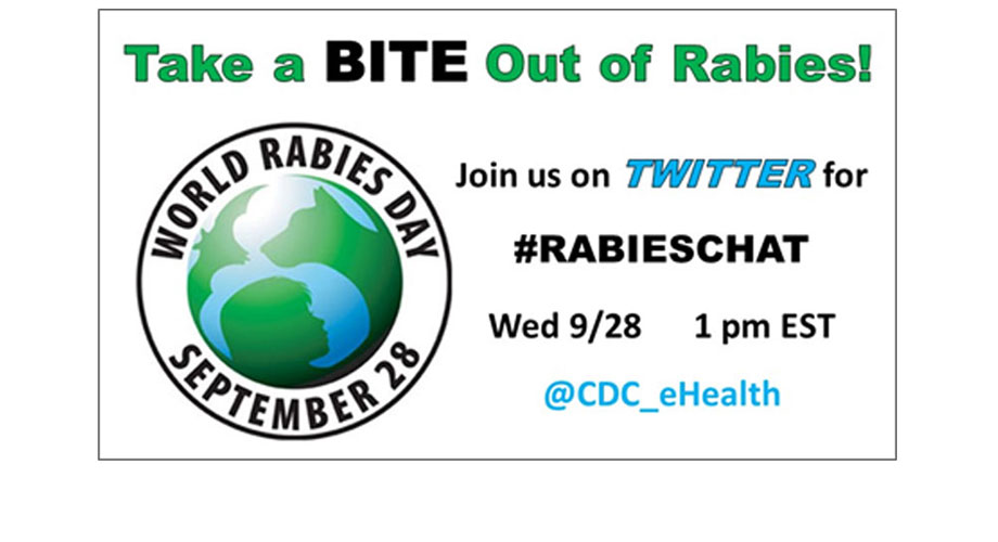 Take a BITE out of Rabies. Join us on Twitter for #rabieschat