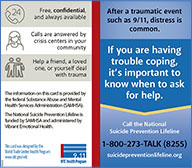 Suicide prevention printable wallet card