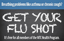 Flu shots are free for all members of the WTC Health Program
