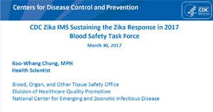 Imagen de pantalla de diapositivas del seminario virtual sobre el grupo operativo de seguridad sanguínea