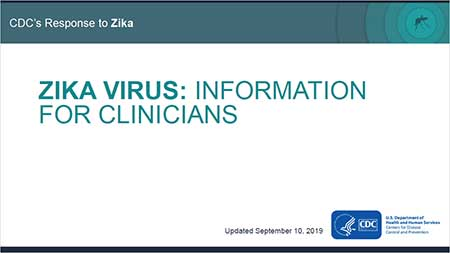 Zika Virus: Information for Clinicians slideset cover thumbnail