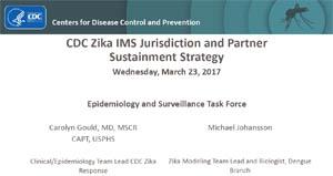 Imagen de pantalla de diapositivas del seminario virtual sobre el grupo operativo de epidemiologia