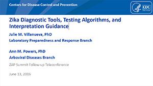 Imagen en miniatura de la portada de las diapositivas Herramientas de diagnóstico para el zika, algoritmos de prueba y directrices para la interpretación
