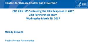 Imagen de pantalla de diapositivas del seminario virtual sobre el Equipo de asociaciones contra el zika