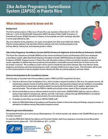 Sistema de Vigilancia Activa de Zika en Embarazos (SVAZE) en Puerto Rico