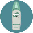 usar repelente de insectos en atomizador