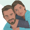 Graphic of a couple