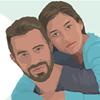 Gráfico de um casal