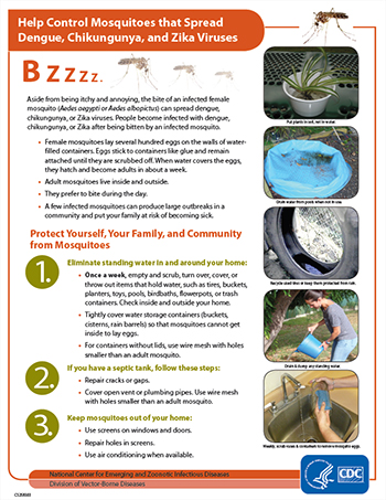 Help Control Mosquitoes that spread dengue, chikungunya, annd zika viruses