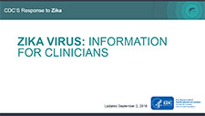 Zika Virus: Information for Clinicians