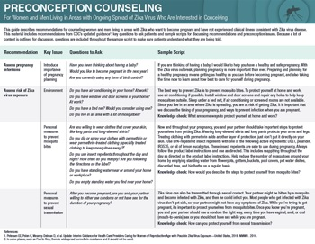 Zika preconception counseling