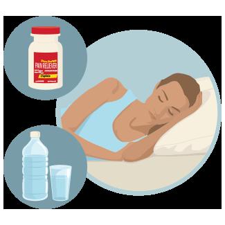 Imagen de una mujer recostada sobre una cama
