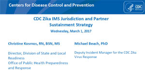 CDC Zika IMS Jurisdiction and Partner Sustainment Strategy Slideset Screenshot