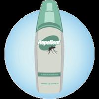 una botella de repelente de insectos