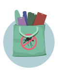 a bag full of Zika prevention products
