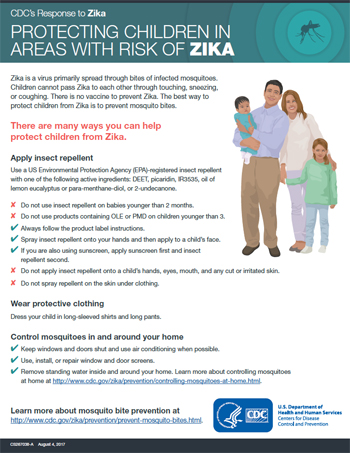 Protecting children in areas with Zika fact sheet thumbnail