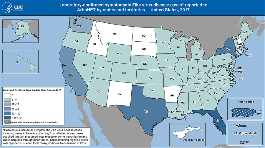 Us Zika Virus Map 2017 Case Counts in the US | Zika Virus | CDC