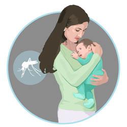 Mujer cargando un bebé