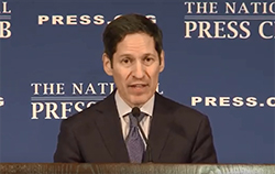 Dr. Tom Frieden speaking at a press conference