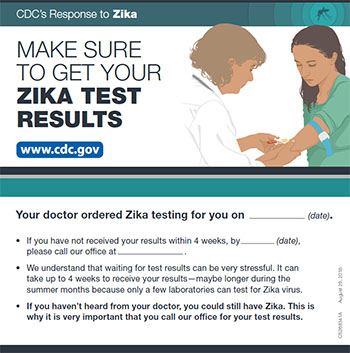 Make sure to get your Zika test results fact sheet thumbnail