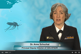 Screenshot of Dr. Anne Schuchat