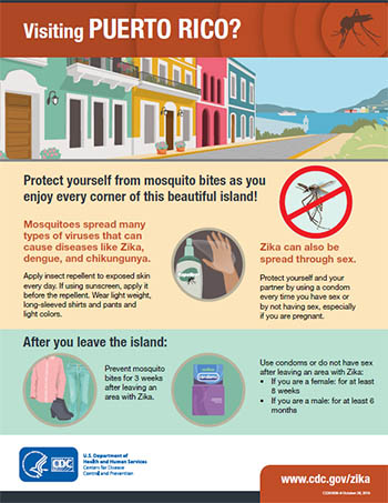 Explore Puerto Rico! Protect yourself from mosquito bites as you enjoy every corner of this beautiful island! infographic thumbnail