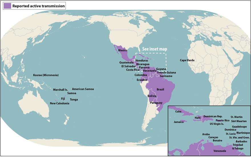 FileCDC map of active Zika virus transmissionjpg Wikimedia Commons