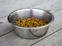 Image of a bowl of dog food.